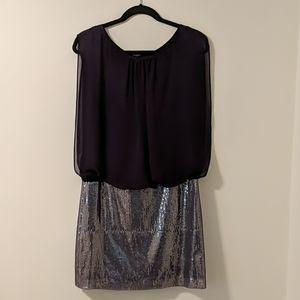 Aqua Dress - Plum and sparkly (Size 10)